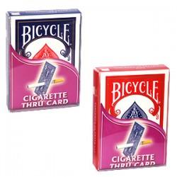 Cigarro que atravessa a carta - Bicycle