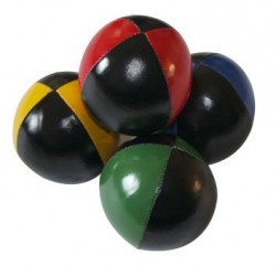 Bola Beanbag 2 cores preto + cor