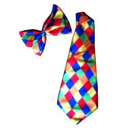 Conjunto de gravata e laço de palhaço
