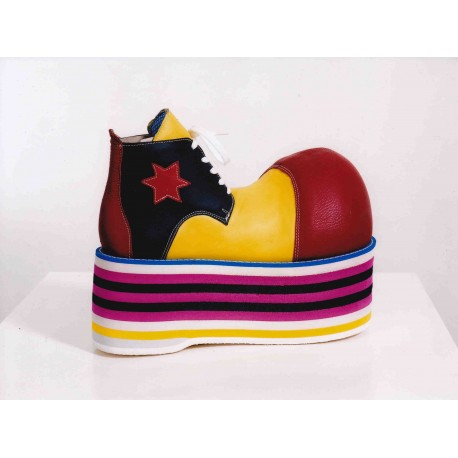 Sapatos Palhaço em Couro SOLA ALTA